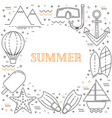 summer vacation line design vector image