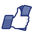 Thumbs Up symbol icon with cash vector image