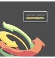 Twisted spiral of colorful arrows vector image