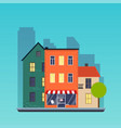 Town houses urban landscape city flat design vector image