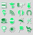 march month theme set of simple stickers eps10 vector image