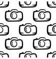 Seamless pattern of a compact camera vector image vector image