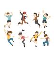 Teenage jumping  eps10 format vector image