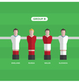 football players group B vector image
