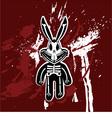 rabbit skeleton vector image vector image