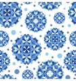 Blue abstract circles seamless pattern background vector image
