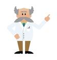 Cartoon professor with moustache vector image