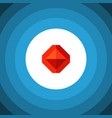 isolated treasure flat icon jewel element vector image