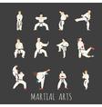 martial arts eps10 format vector image