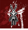 rabbit skeleton vector image