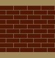 seamless brown brick texture vector image