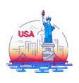 usa - modern line travel vector image