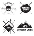Set of Ski Club Vintage Mountain winter badges vector image