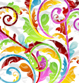 Abstract multicolor floral background design vector image