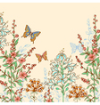 Hand drawn spring floral background vector image