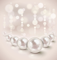 White pearls vector image vector image