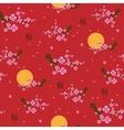 Spring seamless pattern blooming sakura vector image