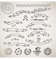 Vintage Elements ribbons vector image