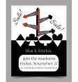 Direction Arrows Black Friday Banner Card vector image