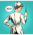 Nurse makes a shot vaccination vector image