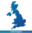 Map of UK United Kingdom vector image vector image