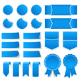 Blue Price Tags Stickers Banners vector image