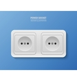 background with realistic power socket vector image