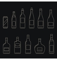 Beverages thin icons vector image