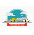 Ferry Line Terminal vector image