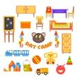 Kindergarten Preschool Set vector image