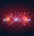 new year multicolored fireworks with sparks and vector image