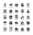 real estate glyph icons 3 vector image