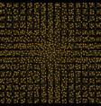 round grunge golden frame on checkered background vector image