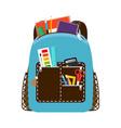 children school blue bag pack vector image
