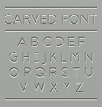 Carved font design vector image vector image