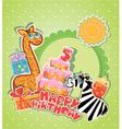 happy birthday 5year 380 vector image vector image