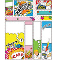 Comic Book Style Banners in Sizes 88 x 31 468 x 60 vector image vector image