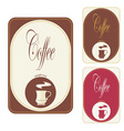 label coffee vector image