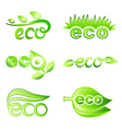 ecology design elements vector image vector image