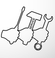 Repair symbol vector image vector image