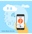 online music service vector image