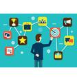 Customer Relationship Management vector image