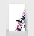 geometric abstract composision modern triangles vector image