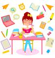 Happy school life vector image