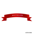 red ribbon white background vector image