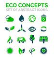 set of eco nature environmental icons vector image