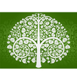 Silver Buddha tree on a green background vector image