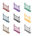 stairs icon in black style isolated on white vector image