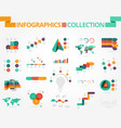 business and social infographics vector image vector image