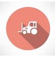 tractor pallet icon vector image vector image